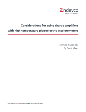 Considerations for using charge amplifiers with high temperature piezoelectric accelerometers